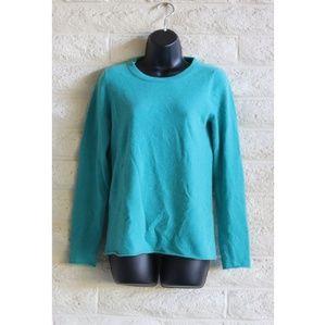 J Crew | Cashmere teal crewneck pullover sweater